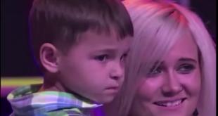 УНИКАЛНО!!! Баща пее за първи път пред 4 годишния си син на сцената на ТВ шоу!!! ЧУЙ ТАЗИ НЕВЕРОЯТНА ПЕСЕН!!!