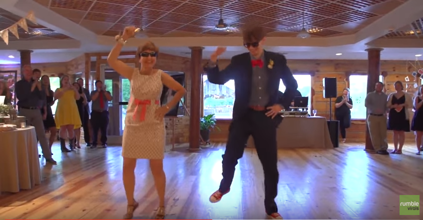 Страхотен сватбен танц между майка и син